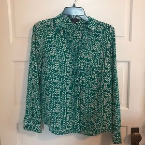 Express green blouse